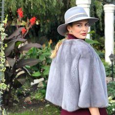 "01a60617022a HAUTE ACORN on Instagram  ""Sapphire Mink Fur Cape 🍂 👉🏻 hauteacorn.com  🙌🏻 Worldwide Shipping ✈ . . .  minkcoat  mink  minkfur  realfur  fur   style ..."