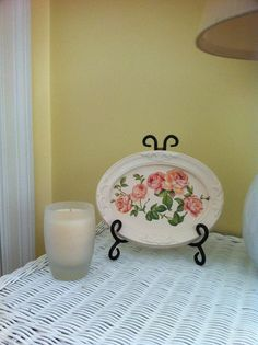 Handmade Shabby chic plaster frame with roses by GraceDecorations, $20.00