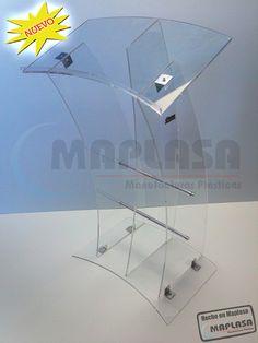 Pódium de Acrilico de 8 mm de espesor http://www.maplasa.com/productos/podiums/VentadePodiumsdeAcrilico.php
