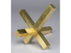 abstract brass sculpture