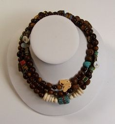 The Wood Goddess (Brown) 3-in-One Neckace w bracelet included.