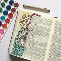 Hebrews 6:19 We have this hope as an anchor for the soul bible journaling, watercolor