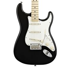 Fender American Standard Stratocaster with Maple Fingerboard - Black with Case