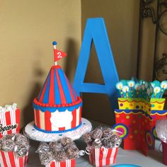 Abbey's Circus Theme Birthday Cake! By Tiffany's Cakes and More.....