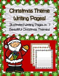 Bring students' creative writing to life with this Christmas theme writing paper.   Included in this pack:  8 different border themes  Each theme includes 2 pages  (one page for title, illustration and writing + one full bordered, lined page for continued writing)  Each theme comes in both color and black-line copies  I hope that your students enjoy these pages as much as mine have!