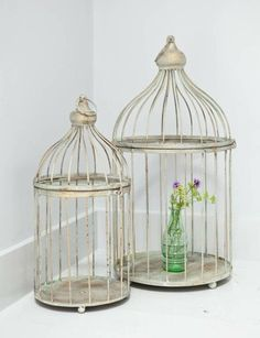 Vintage style display birdcage, large