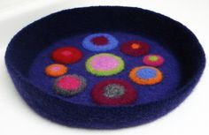 crocheted dog beds | Modern Cat or Small Dog Pet Bed Hand Crocheted Felted Pet Bed in Funky ...