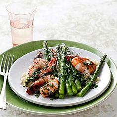 Citrusy Shrimp with Asparagus