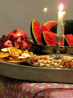 Happy Yalda. Yalda is an ancient Persian feast celebrating the longest night of the year which is also the last day of fall in persian calendar. Iranians celebrate this night by eating pomegranate and watermelon and particular food and also reading Hafez poems.