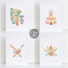 ❣ Please check our announcements tab for coupon codes! ❣  Floral Native Nursery Printable Set  ❥ No physical item will be shipped to you. You