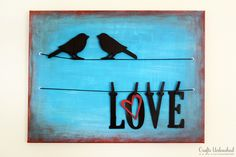 Birds On A Wire DIY Canvas Wall Art Tutorial- this looks super easy! Full step by step photo tutorial.