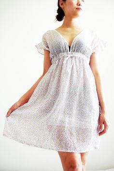 Dainty White Cotton Dress