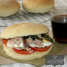 Nice pan bagnat recipe, cook pan bagnat Nice - All Recipes & Vegan and other Vegan Recipes, Cooking Recipes, Bar Menu, Croissant, Crepes, Allrecipes, Sandwiches, Food And Drink, Favorite Recipes