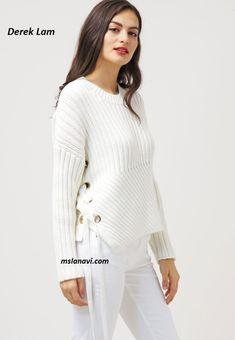 Простой пуловер спицами от Derek Lam - СХЕМЫ #ВязаниеСпицами http://mslanavi.com/2016/05/prostoj-pulover-spicami-ot-derek-lam/