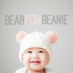 Ravelry: Bear Pom Beanie pattern by Stephanie Jessica Lau