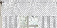 Amazon.com : Gray and White Diamond Window Valance by Sweet Jojo Designs : Baby Nursery Window Treatments : Baby