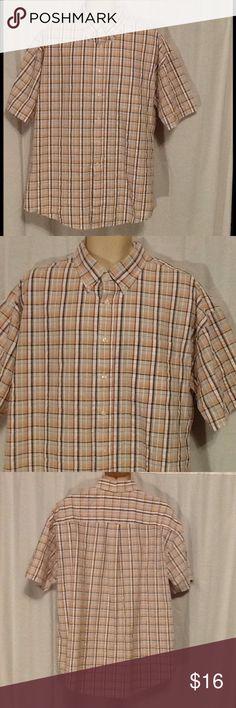 Sun River Clothing Co Plaid Shirt L Great condition. Multi color plaid. Short sleeve. Button down. 100% cotton. Posh10. W1D2. Sun River Clothing Co Shirts Casual Button Down Shirts