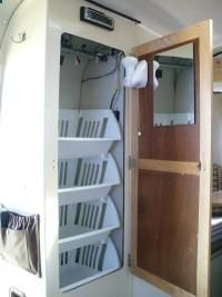 This is The Best Travel Trailer Organization RV Storage Hacks, Makeover, Remodel Ideas that will make you a happy camper again. Having a trailer isn't free. When preparing your trip trailer f… ** Read more at the image link. Travel Trailer Organization, Rv Organization, Organizing Ideas, Camper Storage, Storage Hacks, Closet Storage, Storage Solutions, Pantry Closet, Cabinet Storage