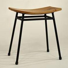 Hocker Kyoto-Fabrik - industrial style japanese stool 'kyoto', metal and wood