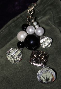 Black & Pearl Tablecloth Weights by SprinkleandSparkle on Etsy, $28.00
