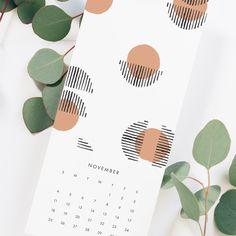 2018 Hanging Calendar - Modern Wall Calendar - Patterned Calendar | JaymeeSrp.com