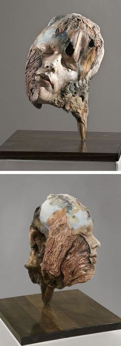 Driftwood art by Michelle Dickson // sculpture // nature-inspired art // wood sculpture