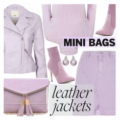 """Leather Jacket//Mini Bag"" by shoaleh-nia ❤ liked on Polyvore featuring River Island, Urban Expressions and Catherine Catherine Malandrino"