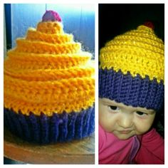 Finally manage to figure out how to make an ice cream hat) so pretty for my pretty girl Scarlett.