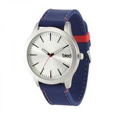 The new Breo Moda watch in navy/silver/red.