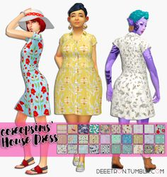 Sims 4 CC's - The Best: Dress by Deeetron