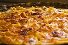 Foto de la receta de espaguetis con queso al horno