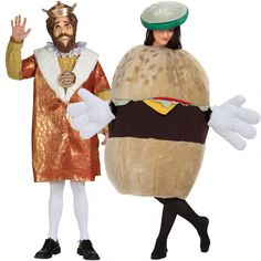 burger-king-and-burger-couples-costume - http://johnrieber.com/2013/10/10/bacon-halloween-costumes-cheeseburger-dresses-be-your-food/