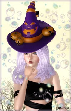 Halloween Accessories Hat, Earrings, Pumpkin Hand - Sims 3 Downloads CC Caboodle