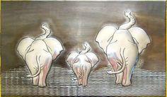Perwter art from Bev 3 elephants