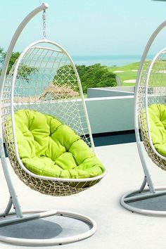 Modway  Encounter Rattan Outdoor Wicker Patio Suspension Series Swing Chair - White/Green  $689.00  $1,200.00 43% off