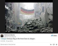 Bandeira da Alemanha celebra vitória em meio à guerra Na Síria. http://glo.bo/1nabwBr pic.twitter.com/GXCg1iXivx