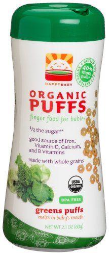 NEW HAPPYBABY Organic Puffs Greens Puffs