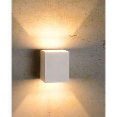 Lucide wandlamp Xera vierkant - wit