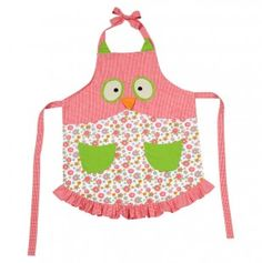 Owl Child Size Apron- Inspiration. Could also do monster and dinosaur ones.