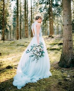 See the most beautiful nontraditional wedding dresses, from bohemian styles to colorful options. French Wedding Dress, Lace Wedding Dress, Amazing Wedding Dress, Classic Wedding Dress, Wedding Gowns, Dress Lace, Chic Wedding, Royal Blue Prom Dresses, Bohemian Wedding Dresses