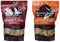 Biscuit Bob's Combo 2-Pack, Apple Crisp Bones Dog Treats and Carrot Cake Bones Treat- 10oz Each >>> See this awesome image  : Dog treats