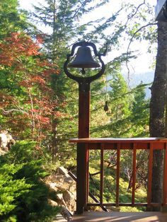 Dinner bell, outside kitchen door (1) From: Logger's Retreat, please visit