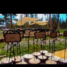 Wedding idea: food labels