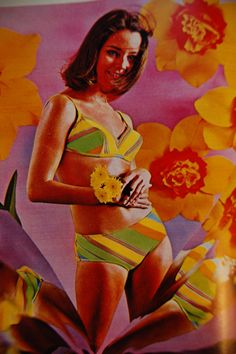 Perpetual Light Vintage Etsy A swimsuit advertisement from Seventeen magazine, 60s Vintage Clothing, Vintage Swimsuits, Vintage Models, Retro Swimwear, Psychedelic Fashion, Psychedelic Art, 60s And 70s Fashion, Vintage Fashion, Sporty Fashion