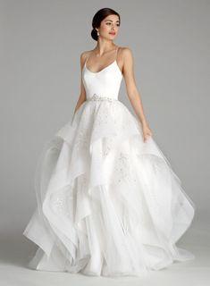 Trendy Ball Gown Wedding Dress by Alvina Valenta - Image 1