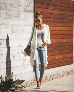 Inspiration crochet fringe cardigan in 2019 stellar outfits! Fashion Casual, Look Fashion, Casual Chic, Spring Fashion, Autumn Fashion, Fashion Outfits, Womens Fashion, Fashion Styles, Lazy Day Outfits