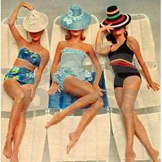 Image result for retro sunbathers trio shower curtain
