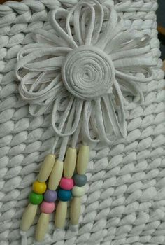 Add some of your favourite beads to your Tarn {T-shirt Yarn} projects <3 http://www.tarnsa.co.za/