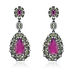 SUTRA - ruby and rose cut earrings (worn by Katy Perry)
