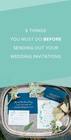 6 Things You MUST Do Before Sending Out Your Wedding Invitations - Find out what 6 things you don't won't to forget to do with your wedding invitations before putting them in the mail on @weddingwire! {Alicia Wiley Photography